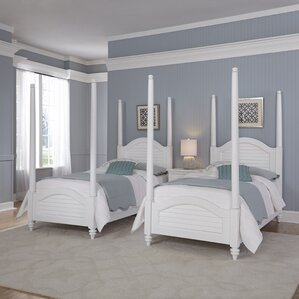 Harrison Traditional Twin Four Poster 3 Piece Bedroom Set