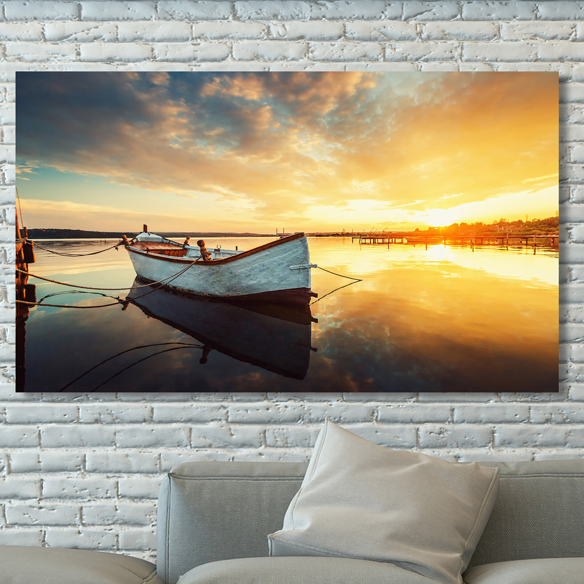 PicturePerfectInternational \'Boat on Lake\' Photographic Print on ...