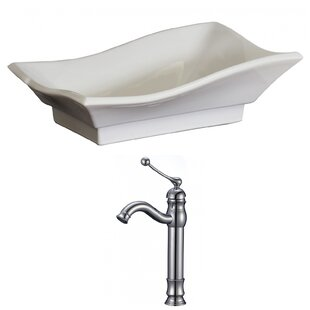 Reviews Specialty Ceramic Specialty Vessel Bathroom Sink with Faucet By American Imaginations