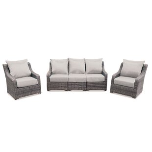 Laurel Foundry Modern Farmhouse Valentin 5 Piece Sunbrella Sectional Set with Cushions