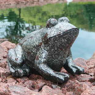 Hathorn Weathered Sitting Frog Outdoor Statue by Red Barrel Studio