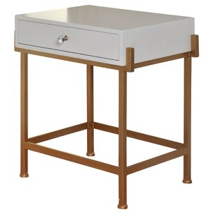 Mercer41 Hobgood 1 Drawer End Table with Storage