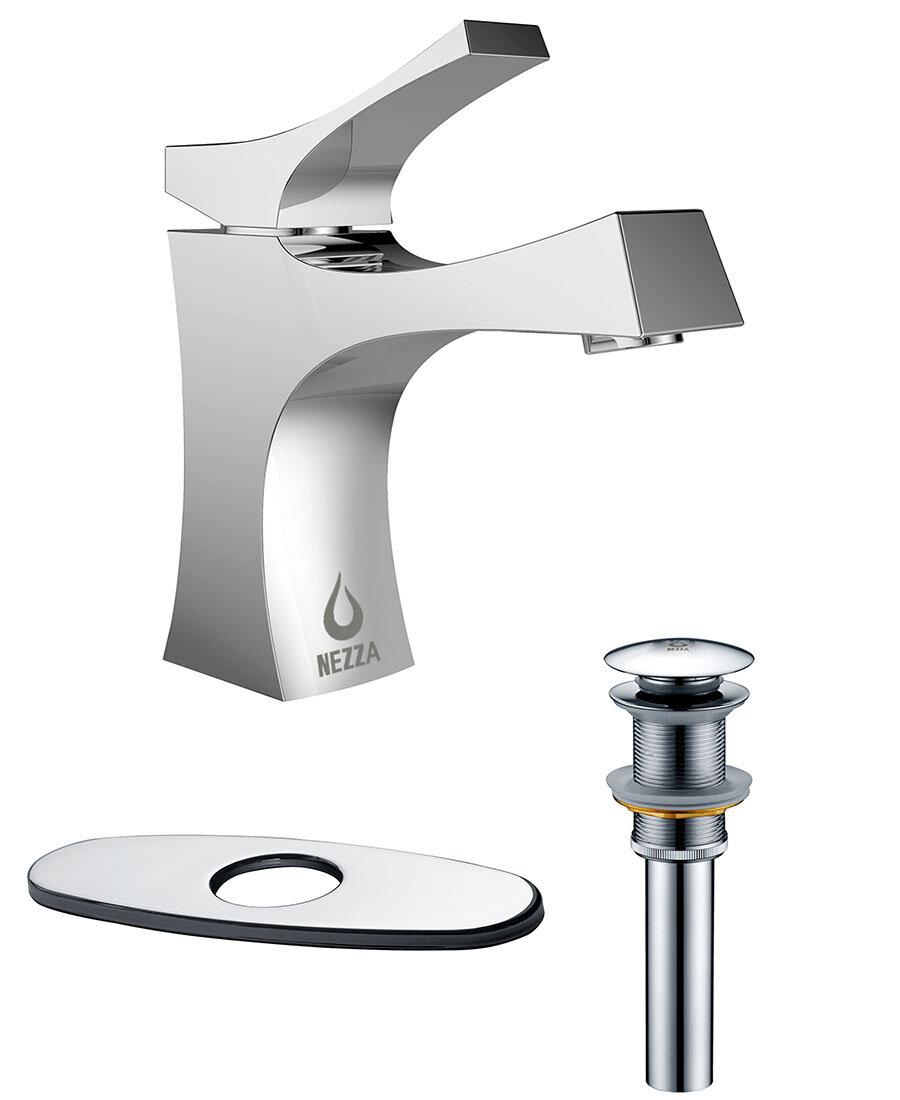 Nezza Talon Single Handle Bathroom Faucet, Pop-up Drain without ...