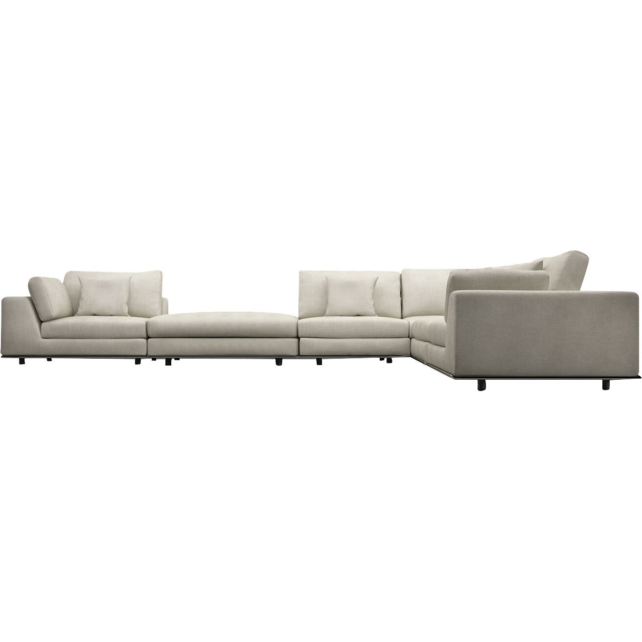 Perry sectional with ottoman reviews allmodern