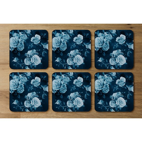 Everly Quinn Winter Roses Designer Coaster Wayfair