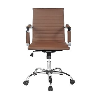Merveilleux Tan Leather Office Chair | Wayfair