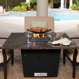 Firetainment Alfresco Madrid Aluminum Natural Gas Fire Pit Table