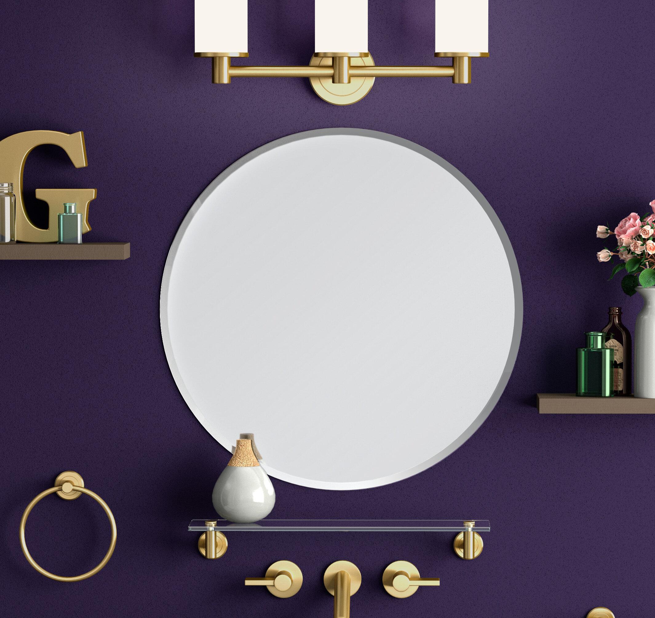 Gatco Flush Mount Modern Contemporary Beveled Frameless Bathroom Vanity Mirror Reviews Wayfair
