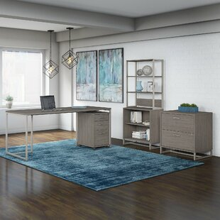 Method 4 Piece Rectangular Desk Office Suite by Kathy Ireland Office by Bush