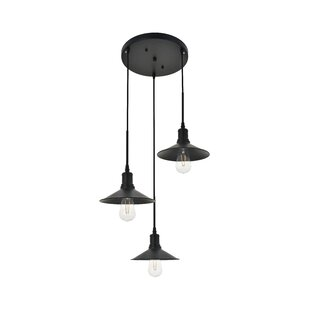 Dellwood 3-Light Cluster Pendant by Wrought Studio