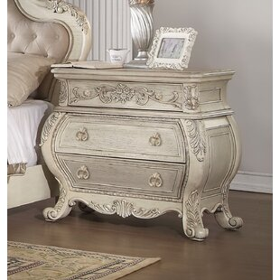 Stultz 3 Drawer Nightstand by Astoria Grand