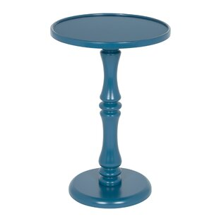 Best Palantoni Pedestal End Table by August Grove