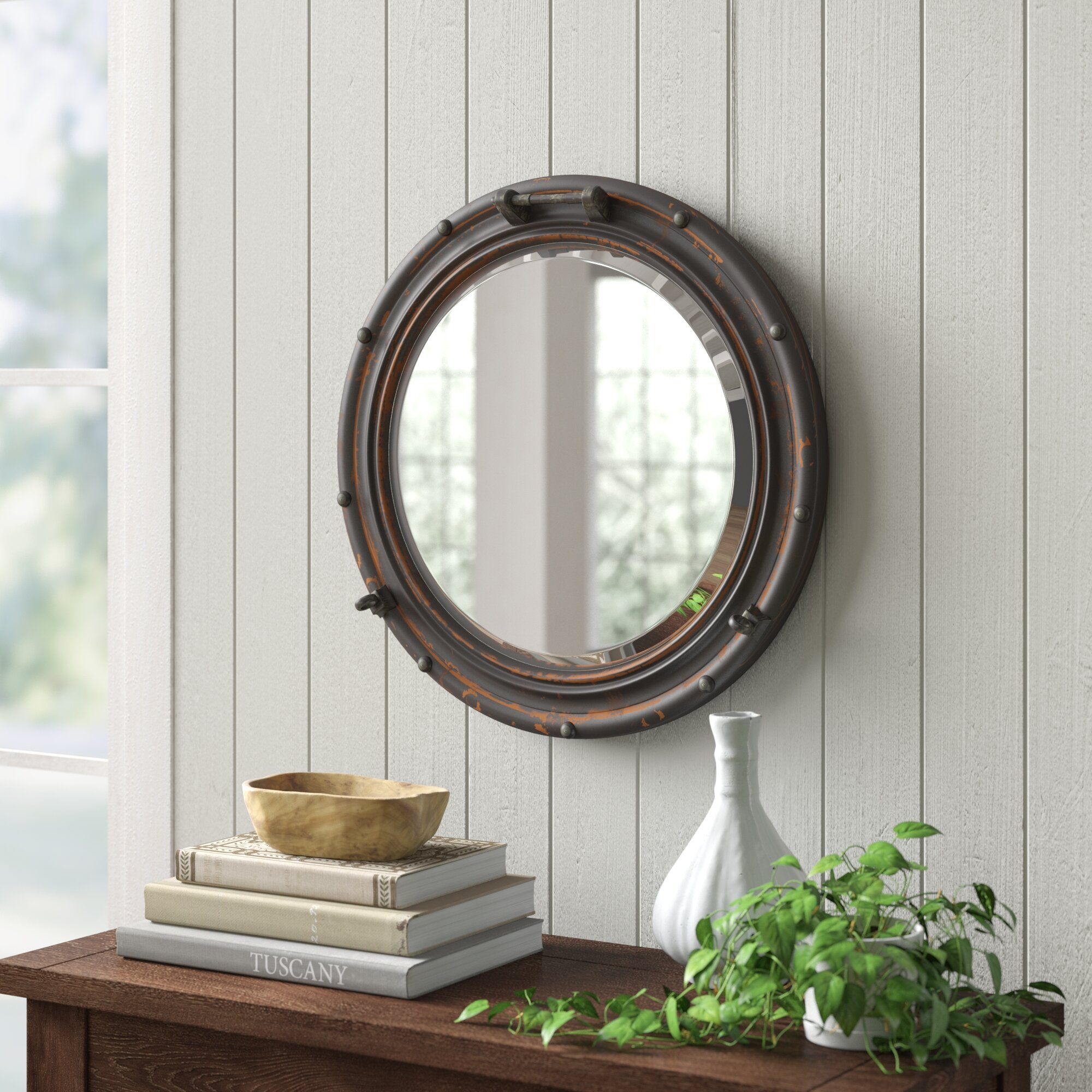 Hernandez Traditional Beveled Distressed Accent Mirror Reviews Birch Lane
