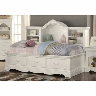 Van Nuys Twin Bed with Shelves and 3 Drawers by Harriet Bee