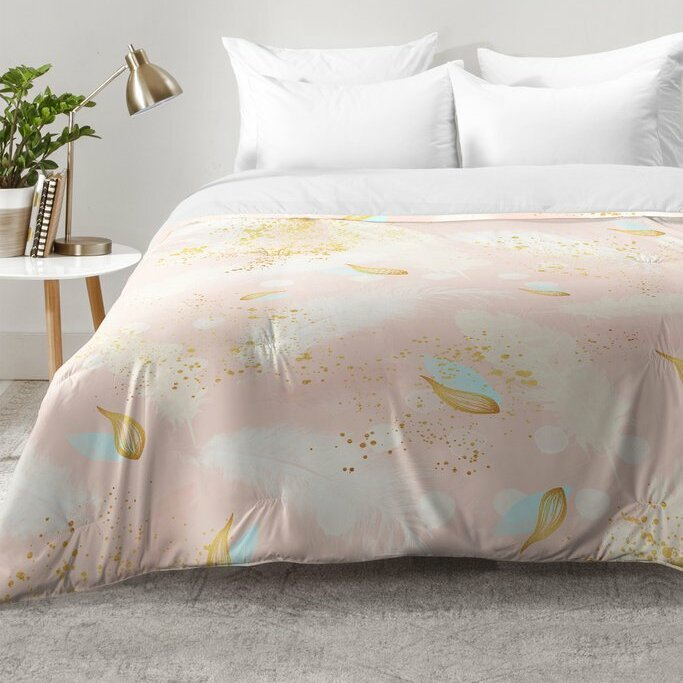 East Urban Home Abstract Painting With Feather Strokes Comforter Set Wayfair