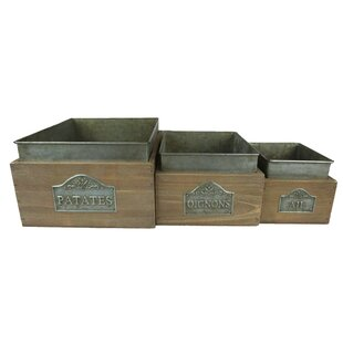 Metal 3 Piece Box Set By Brambly Cottage