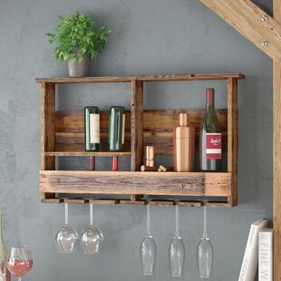 Aubrie West Covina Wall Mounted Wine Bott..