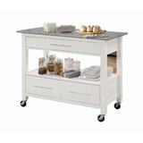 Oh Creative Luxury Utility Kitchen Cart with Stainless Steel by Latitude Run