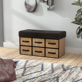Ebern Designs Bhadra Folding Wood Storage Bench