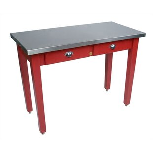 Cucina Americana Prep Table with Stainless Steel Top