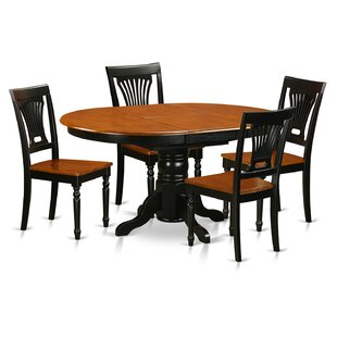 Spurling 5 Piece Solid Wood Dining Set August Grove
