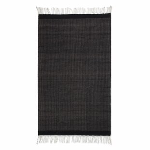 Compare Weare Hand-Woven Black Area Rug ByMillwood Pines