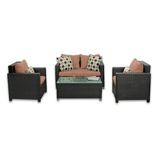 Skye Venice 4 Piece Sunbrella Sofa Set with Cushions