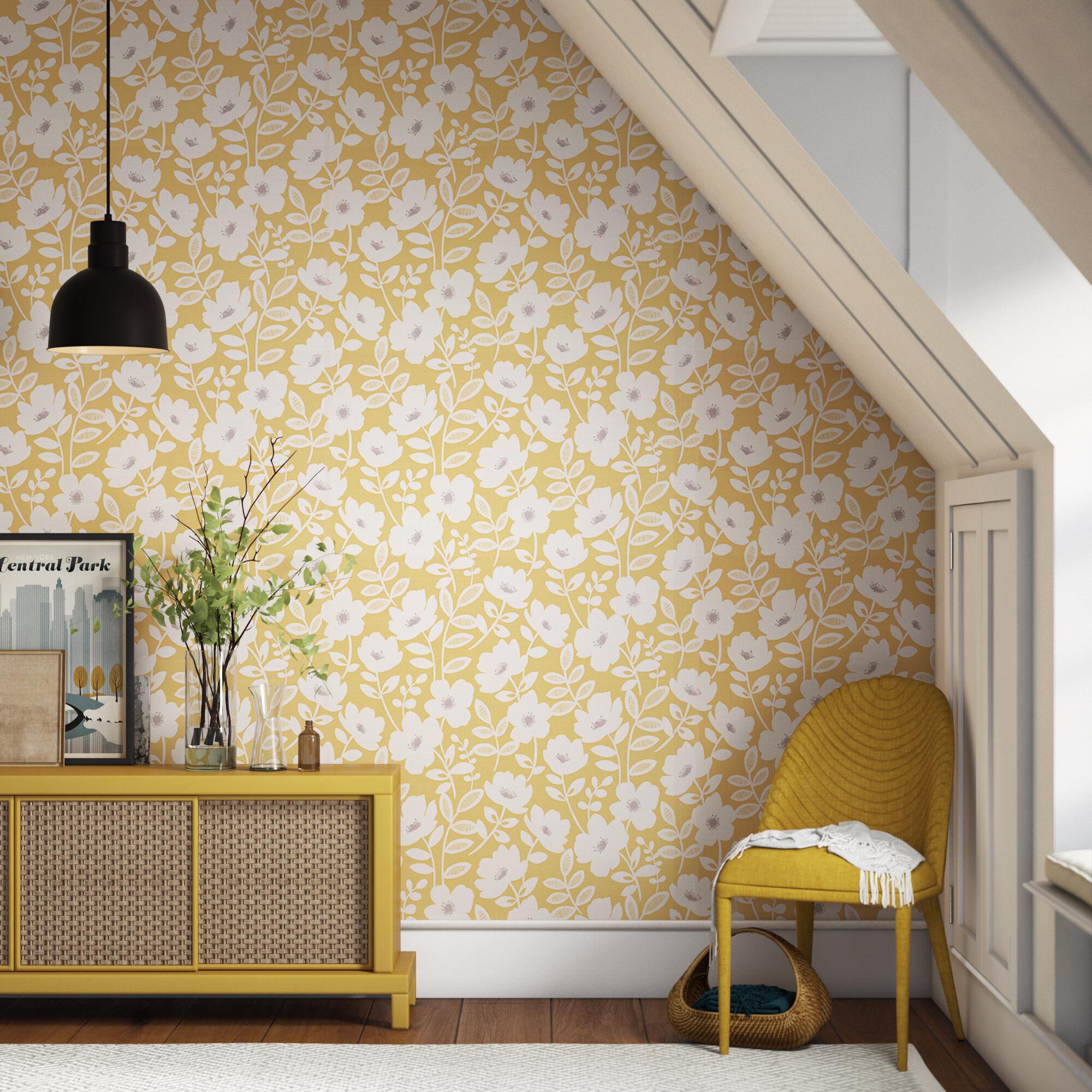 Harless Scandi Flower 33 L X 20 5 W Wallpaper Roll