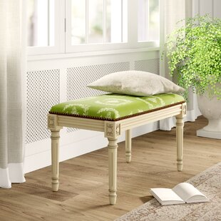 Lark Manor Clematite Upholstered and Wood Bench