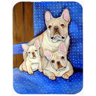 Review Frenchies in Momma's Chair French Bulldog Glass Cutting Board By Caroline's Treasures