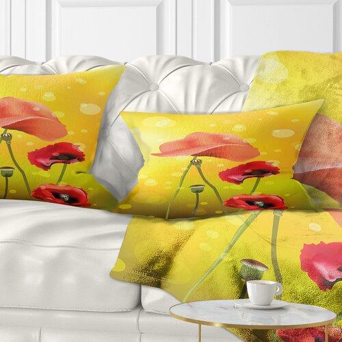 East Urban Home Floral Flowers On Background Lumbar Pillow Wayfair