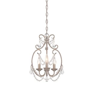 Affordable Dahlia 3-Light Candle Style Chandelier By Designers Fountain