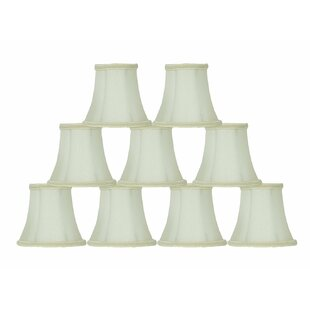 Lace Trim 5 Silk Bell Candelabra Shade (Set of 9)