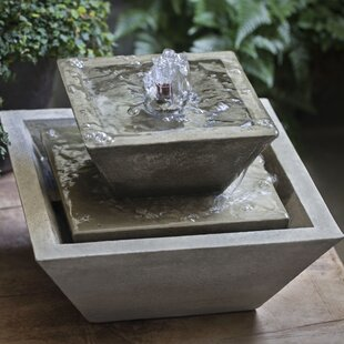 Campania International Kenzo Concrete Garden Terrace Fountain