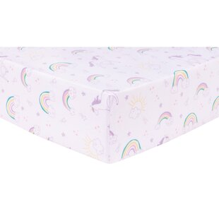 Savings Tocco Unicorn Rainbow Fitted Crib Sheet By Harriet Bee
