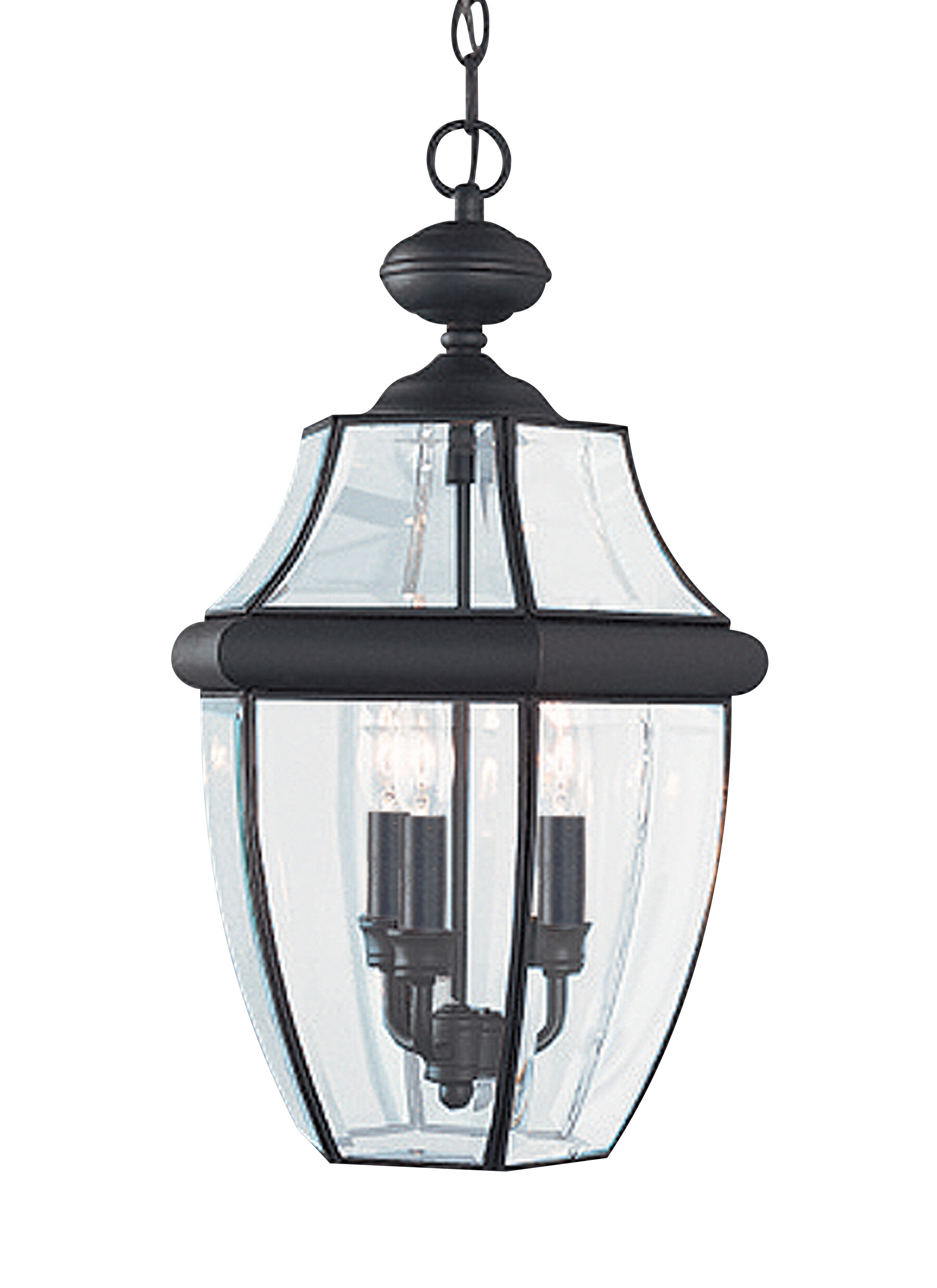 Darby Home Co Knudson 3 Light Outdoor Hanging Lantern & Reviews