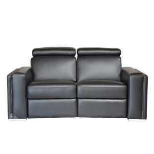 Mertine Top Grain B Grade Motorized Loveseat by Orren Ellis