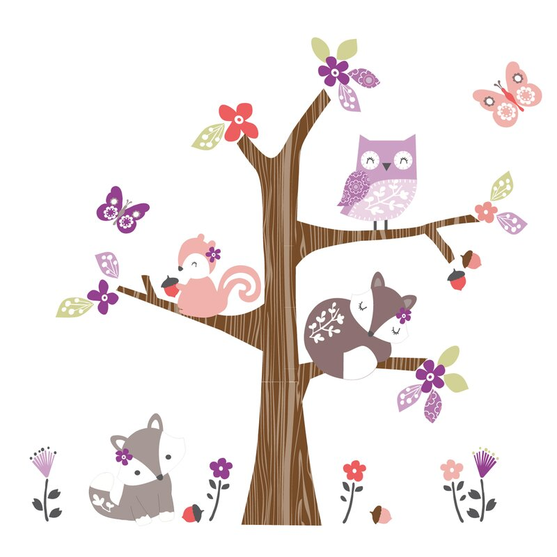 Bedtime Originals Lavender Woods Wall Decal Amp Reviews