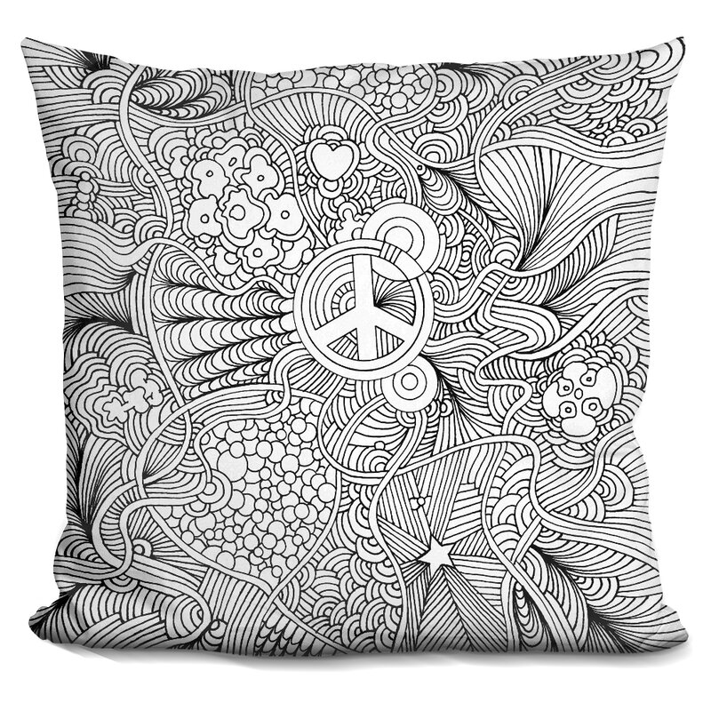 Peace Sign Throw Pillow