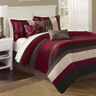 Roseanne Stripe 7 Piece Comforter Set by Astoria Grand