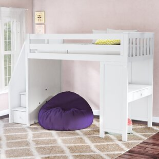Ayres Twin Bunk Bed with Staircase by Harriet Bee