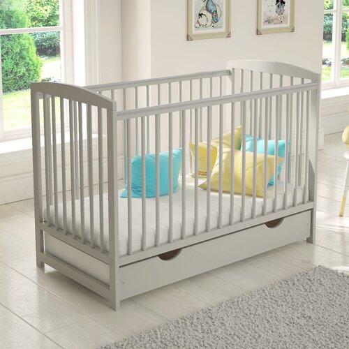 Babybett Misael mit Matratze | Kinderzimmer > Babymöbel > Babybetten & Babywiegen | Grau | Holz | HoneyBee Nursery