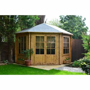 Cheshire 10 X 10 Ft. Tongue And Groove Log Cabin By Sol 72 Outdoor