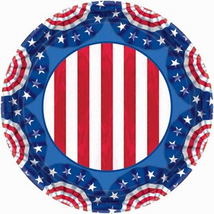 Patriotic American Pride Round Paper Plate (Set of 60)