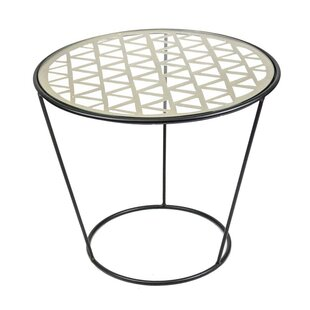 Sagebrook Home Metal & Glass End Table