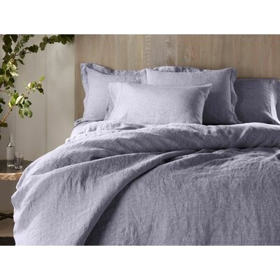 Organic Linen Single Reversible Duvet Cover Coyuchi Size: Full/Queen