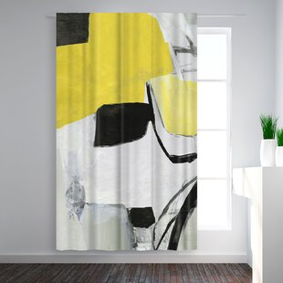 PI Creative Art Valiant I Abstract Blackout Rod Pocket Single Curtain Panel by East Urban Home