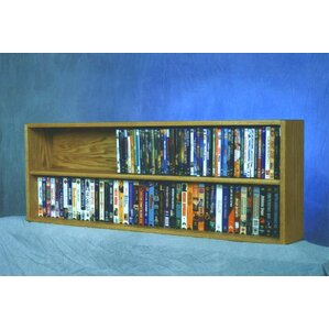 200 Series 176 DVD Multimedia Tabletop Storage Rack by Wood Shed