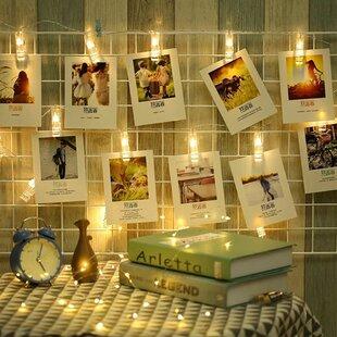 20 White Photo Clips Christmas Decorative LED String Fairy Lights By The Seasonal Aisle