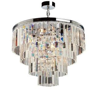 Rosdorf Park Bindera 9-Light Crystal Chandelier